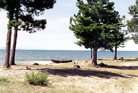 7 Bays beach - near Goryachinsk at Baikal lake