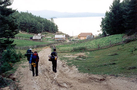 This is us entering Korbulik village at Baikal (2003)