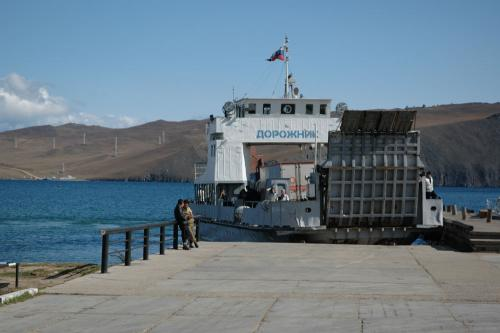 A ferry to Olkhon island