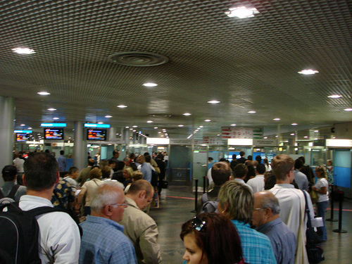 Russian airport passport control / Photo by gasi@FlickR