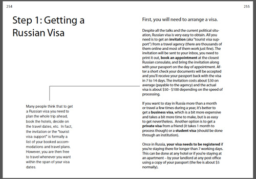 russia guide book visa