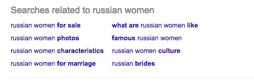women russia related searches