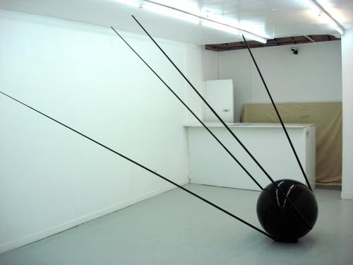 "Adam Vackar, ""Sputnik Black"" 2006, Resine & Mercedes black paint photo by Sergio Calleja - flickr.com/photos/scalleja/"