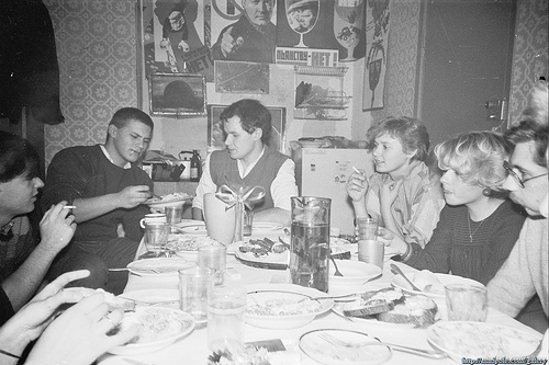 Student party in Moscow in the 80s