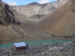 blue lake at Aktru, Altai mountains