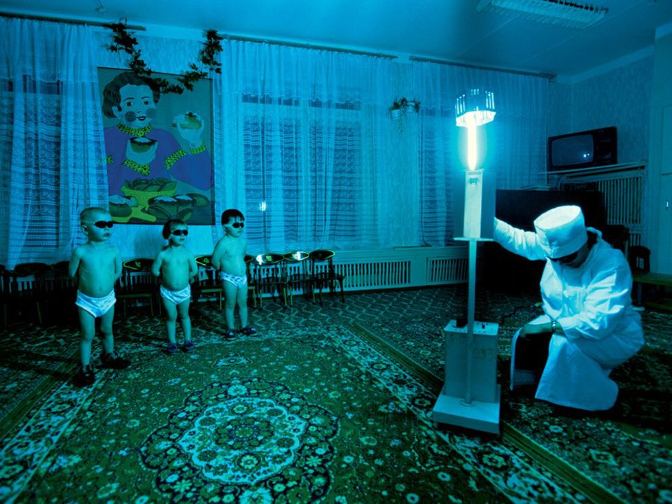 Children ultraviolet light Russia