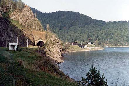 Circum-Baikal railway bridge