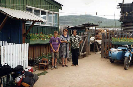 Gremyachinsk village at Baikal Lake - right before we got invited for a meal