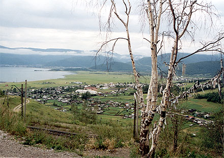A view on Baikal from a road