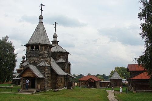Voskresenskaya Church from Patakino Village. End of XVIII Century. By Mikhail Bessonov/Wikimedia Commons