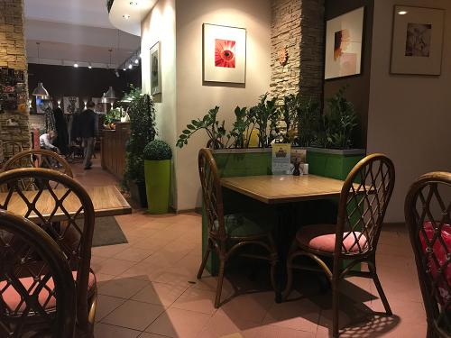 Avocado vegetarian cafe restaurant in Moscow, Russia