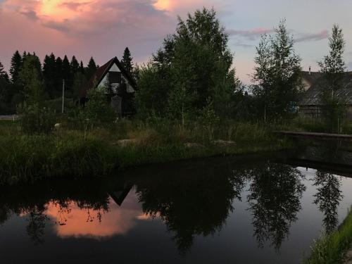 Gorneshno Spa / sunset in the village, photo by Igor Shmelev