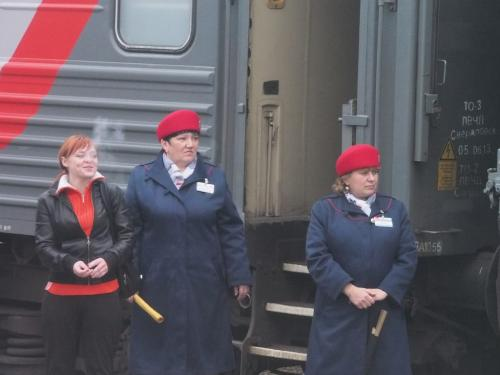 Russian train conductors