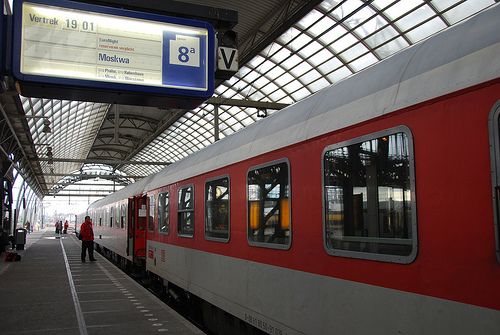 Direct train from Berlin to Moscow / Photo by JimForest@FlickR