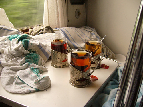 Tea on a Russian train / Photo by DanceTrax@FlickR