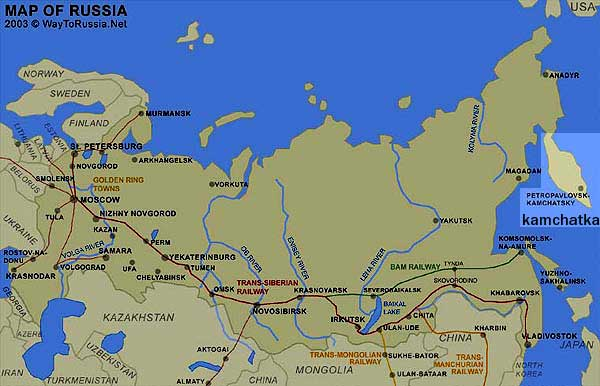 Kamchatka Map Way to Russia Guide